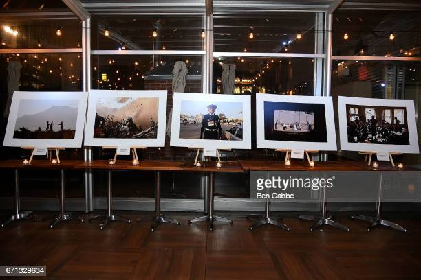 Photos by Chris Hondros on display at the 'Hondros' Premiere After Party during Tribeca Film Festival at STK Rooftop on April 21 2017 in New York City