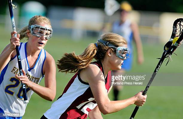 Photos by Staff Photographer Gordon Chibroski Portland Press Herald/Maine Sunday Telegram JUNE 13 2008 Girls playoff Lacrosse action at Falmouth High...