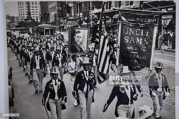 Photos from the 1924 Republican National Convention are seen in the Cleveland Public Library downtown in Cleveland Ohio on Thursday June 02 2016...