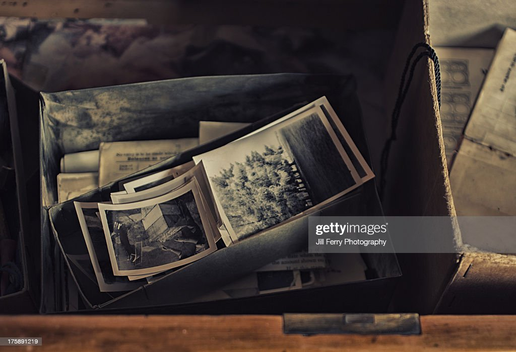 Photos in a drawer : Stock Photo