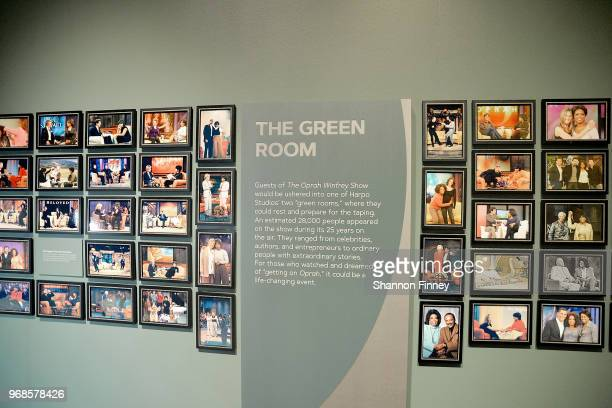 Photos of some of the guests on The Oprah Winfrey Show on display as part of the exhibition Watching Oprah The Oprah Winfrey Show and American...