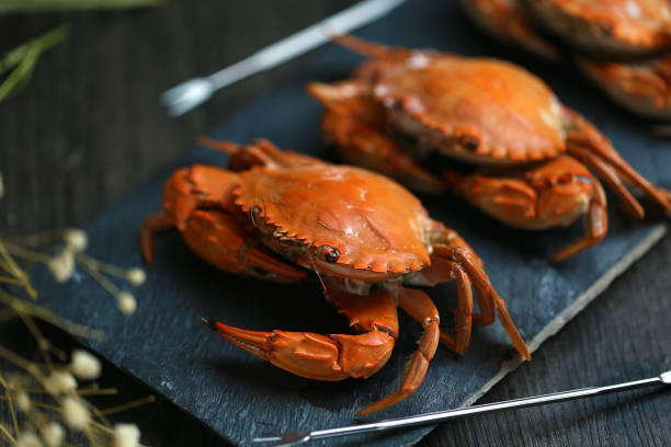 photos of steamed crabs food