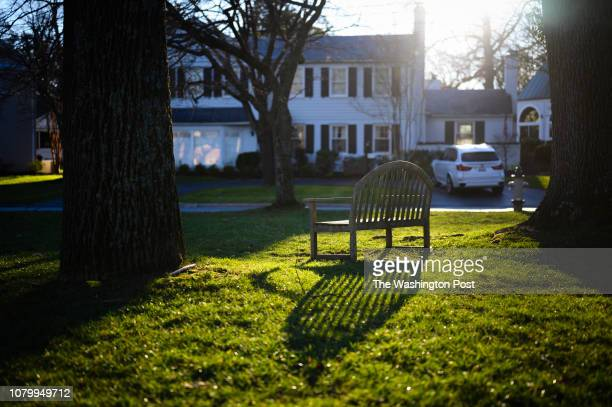 Photos of the Hamlet in Chevy Chase Maryland for a Where We Live feature The Chevy Chase Land Co developed the Hamlet in the early 1900s A bench sits...