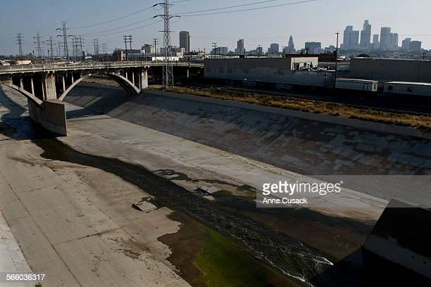 Photos of the Spring Street Bridge over the Los Angeles River near dowtown Los Angeles is being considered for restoration or rebuilding shot on June...