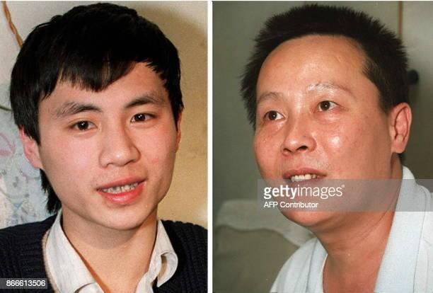 photos récentes des deux dissidents chinois Wang Dan 'G et Wei Jingsheng Le ministre des Affaires étrangères Hervé De Charette a demandé le 16 mai la...