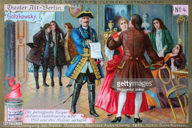 Photos Series Theater Alt-Berlin, Gotzkowsky, Johann Gotzkowsky arrested in 1762 by the Russians / Bilderserie Theater Alt-Berlin, Johann Gotzkowsky...