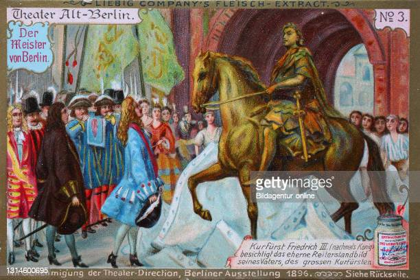 Photos Series Theater Alt-Berlin, The Master of Berlin, Elector Friedrich III, the equestrian statue visited his father / Bilderserie Theater...
