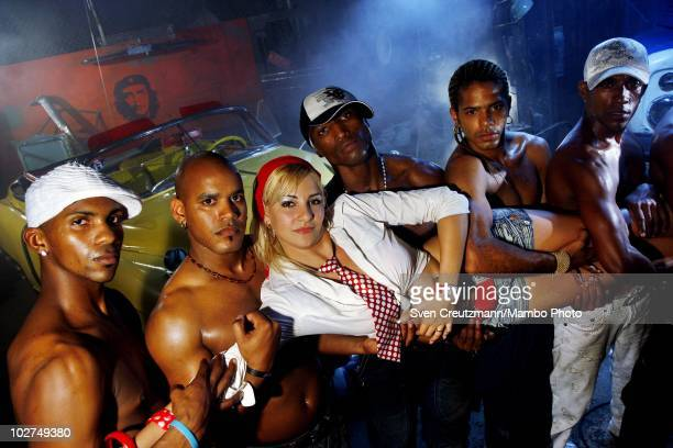 Photoshoot rehearsal of the KINGS OF SALSA, a show with cuban dancers, by british theater director Jon Lee, on November 11 in Havana, Cuba. Cuban...