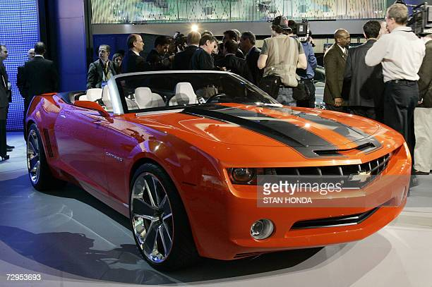 The Chevrolet Camaro convertible on display 09 January 2007 at the North American International Auto Show at Cobo Hall in Detroit Michigan General...