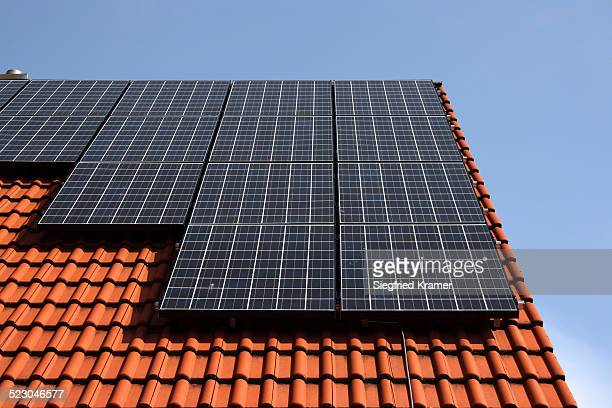 Photovoltaic system on the roof of a single family detached house
