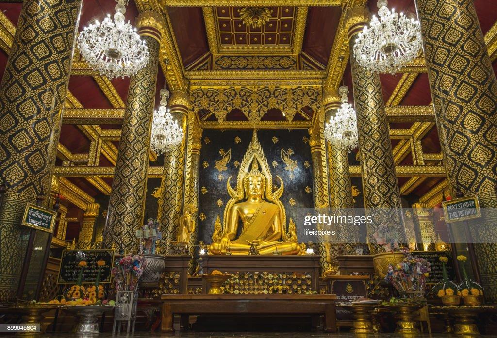 Phra Buddha Chinnarat at Phra Si Rattana Mahathat Temple, Phitsanulok, Thailand : Stock Photo