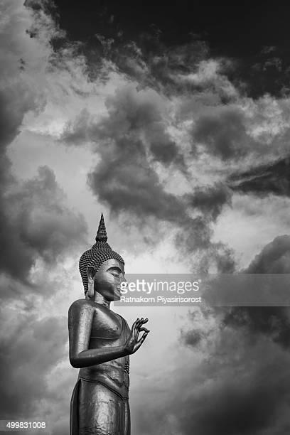Phra buddha mongkhon maharaj; The larg standing buddha Statue in Hatyai Songkhla Thailand