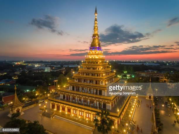 Phra Mahathat Kaen Nakhon or Wat Nong Waeng, the Royal temple ,Thailand