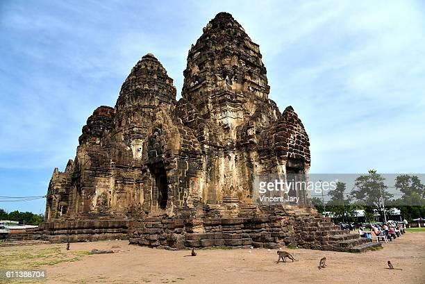 Phra Prang Sam Yot monkeys temple Lopburi Thailand
