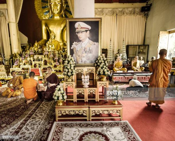 phra singh temple chiang mai thailand - bhumibol adulyadej stock pictures, royalty-free photos & images