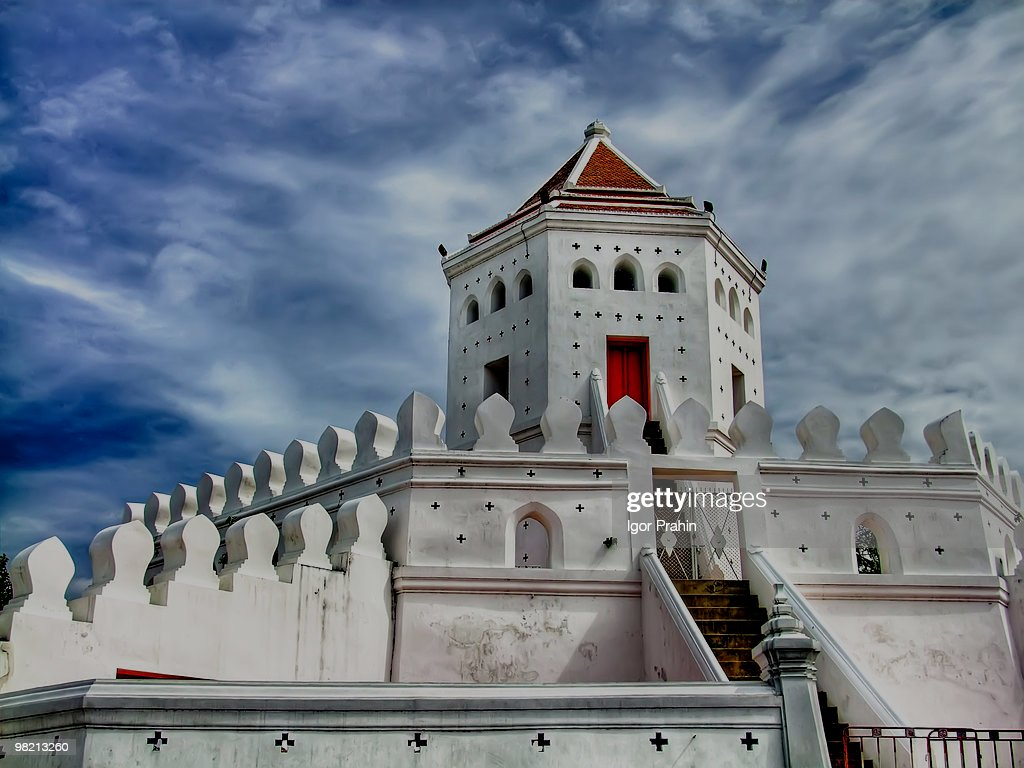 Phra Sumen Fort , Bangkok : Stock Photo