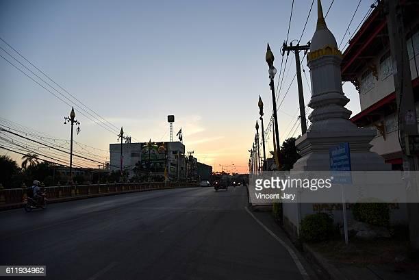 Phraruang bridge at Sukhothai street landscape Thailand, Asia