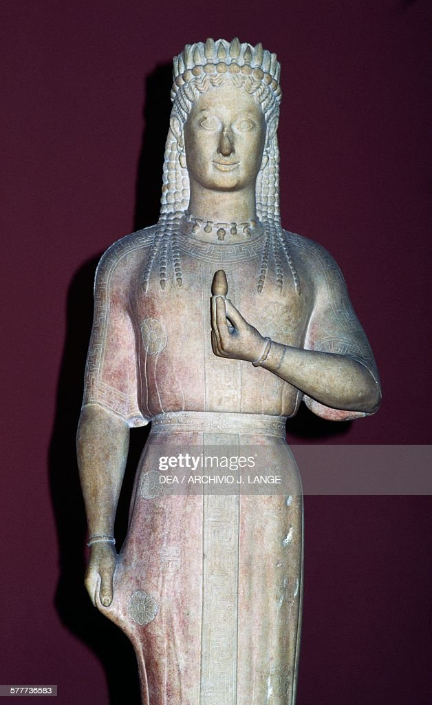 Phrasikleia Kore, Archaic Greek sculpture : News Photo