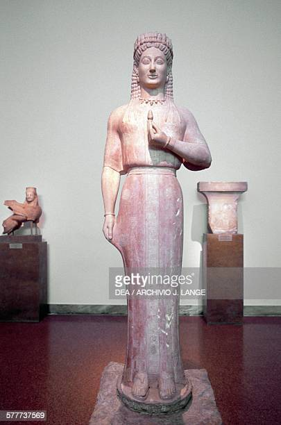 Phrasikleia Kore 550540 BC by Aristion of Paros Greece Greek civilisation 6th century BC Athens Ethnikó Arheologikó Moussío