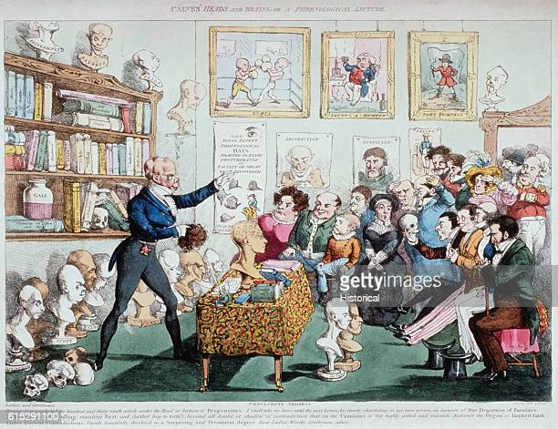 A phrenological lecturer bids goodbye to his audience