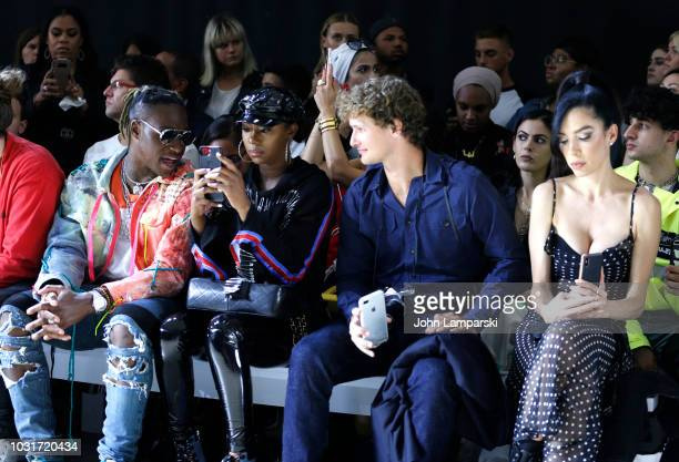 Phresher and Warren Elgort and Claudia Salinas attend the Hogan McLaughlin front Row during New York Fashion Week The Shows at Gallery II at Spring...