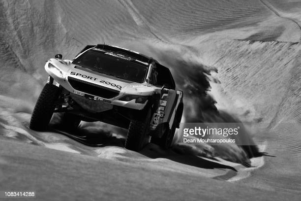Ph-Sport no. 325 PEUGEOT 2008 DKR car driven by Pierre Lachaume of France and Jean Michel Polato of France compete in the sand, desert and dunes...