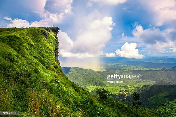 Phu Chi Fa the spectacular landscape of Chiangrai province, Thailand.