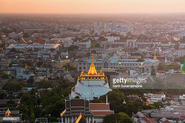 CONTENT] Phu Khao Thong is a steep artificial hill inside the Wat Saket compound Rama I's grandson King Rama III decided to build a chedi of huge...