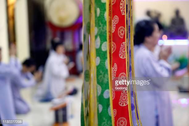 Phu Long buddhist temple Women at ceremony Women at ceremony Ho Chi Minh City Vietnam