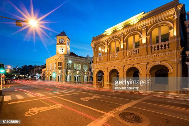 Phuket old town at dusk
