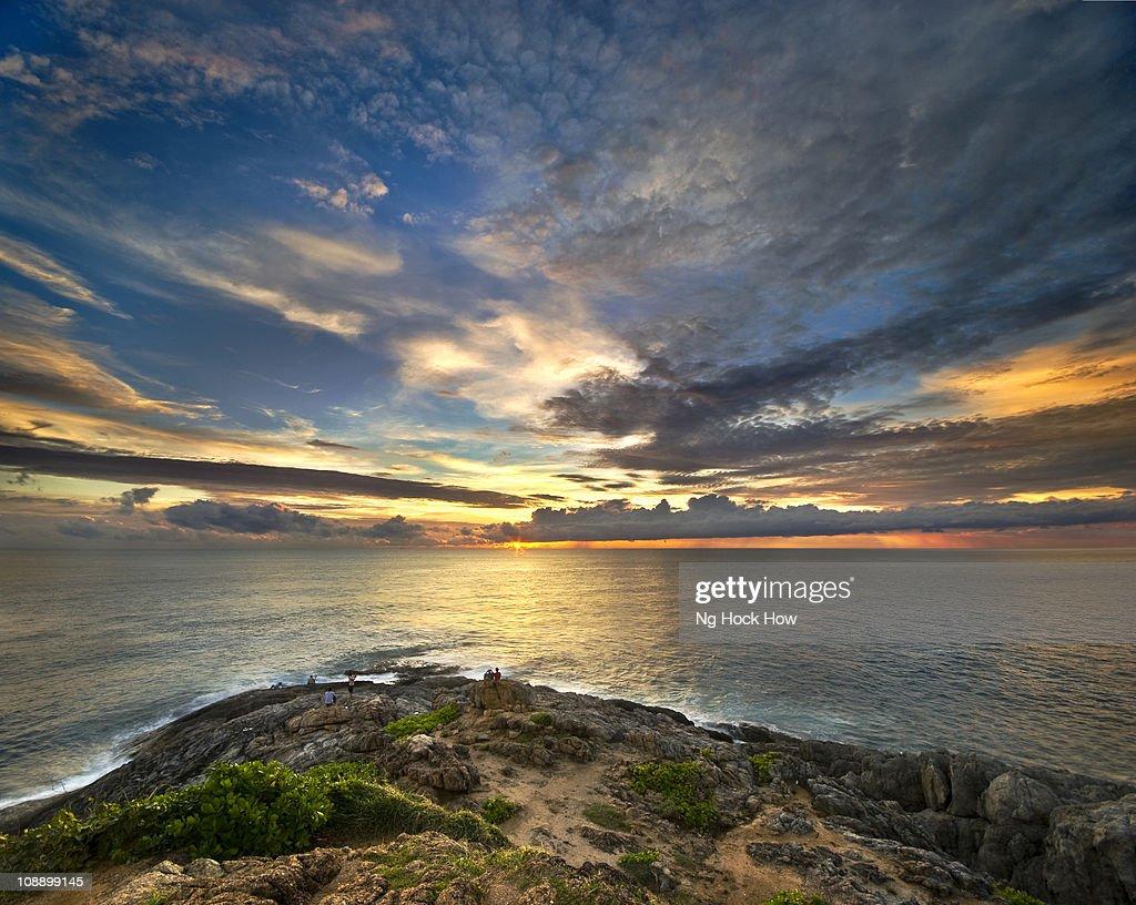 Phuket , Sunset at Promthep Cape : Stock Photo
