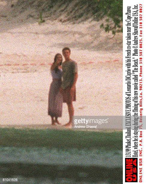 PhuketThailand Exclusive Photos Of Leonardo Di Caprio With His French CoStar Virginie Ledoyen Taken Near The Cape Panwa Hotel Where He Is Staying...