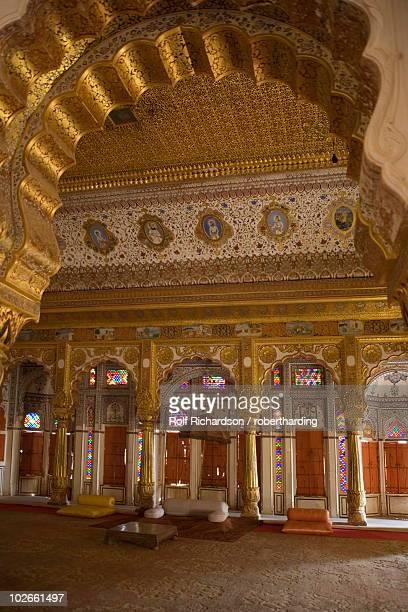 phul mahal (flower palace), meherangarh fort, jodhpur, rajasthan, india, asia - meherangarh fort stock photos and pictures