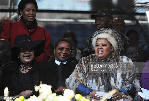 Phumzile MalboNgcukaWinnie Madikizela Mandela and Mantuli Zuma on June 11 2011 in Johannesburg South Africa ANC stalwart Albertina Sisulu passed away...