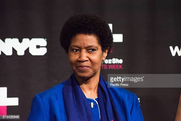 JOE'S PUB NEW YORK NY UNITED STATES Phumzile MlamboNgcuka participates in the panel discussion On International Women's Day NYC First Lady Chirlaine...