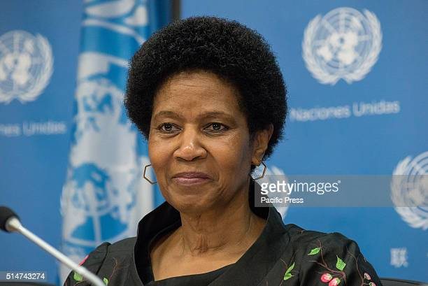 Phumzile MlamboNgcuka speaks to the press UN Women Executive Director Phumzile MlamboNgcuka and Chair of the Commission on the Status of Women and...