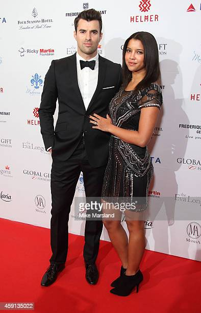 Phylicia Jackson and Steve Jones attend the Global Gift Gala at Four Seasons Hotel on November 17 2014 in London England