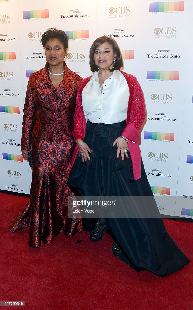 Phylicia Rashad and Debbie Allen arrive at the 39th Annual Kennedy Center Honors at The Kennedy Center on December 4, 2016 in Washington, DC.