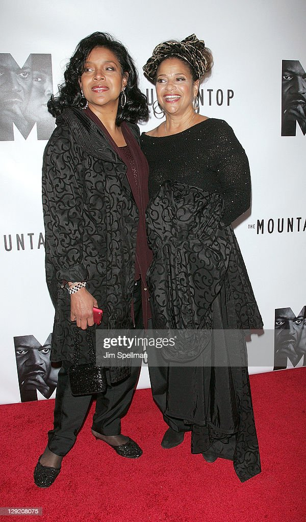 Phylicia Rashad and Debbie Allen attend 'The Mountaintop' Broadway opening night at The Bernard B. Jacobs Theatre on October 13, 2011 in New York City.