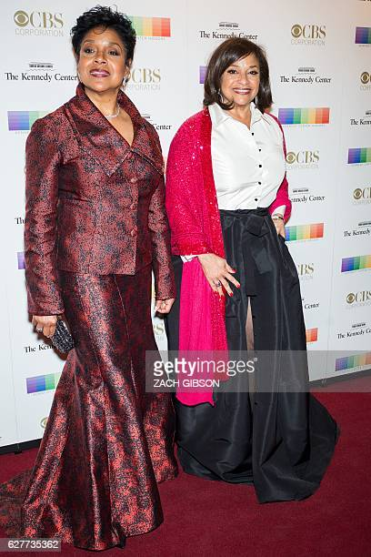 Phylicia Rashad and Debbie Allen pose on the red carpet before the 39th Annual Kennedy Center Honors December 4 2019 in Washington DC / AFP / ZACH...