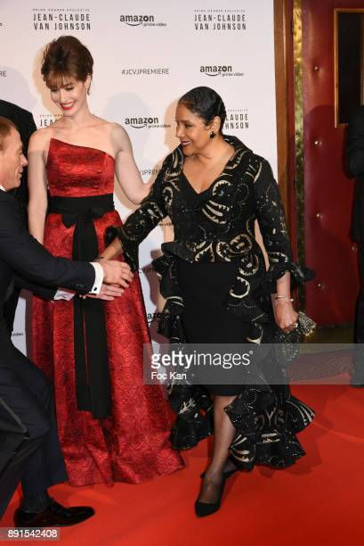 Phylicia Rashad and Kat Foster attend the Amazon TV Serie 'Jean Claude Van Jonhson' Paris Premiere At Le Grand Rex on December 12 2017 in Paris France