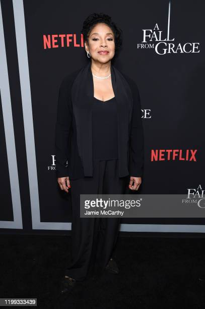 """Phylicia Rashad attends the premiere of Tyler Perry's """"A Fall From Grace"""" at Metrograph on January 13, 2020 in New York City."""