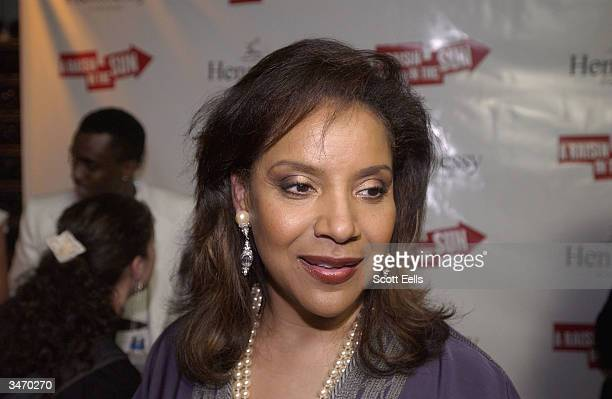 Phylicia Rashad celebrates at the after party for opening night of 'Raisin in the Sun' on April 26 2004 in New York City