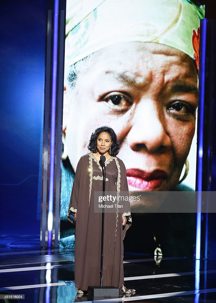 Phylicia Rashad speaks onstage during the 'BET AWARDS' 14 held at Nokia Theater L.A. LIVE on June 29, 2014 in Los Angeles, California.