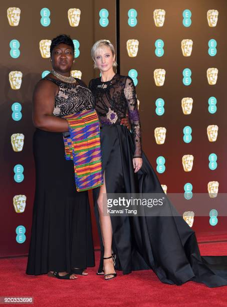 Phyll OpokuGyimah and Andrea Riseborough attend the EE British Academy Film Awards held at the Royal Albert Hall on February 18 2018 in London England