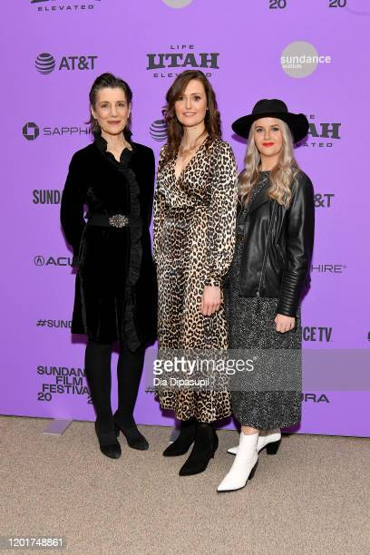 Phyllida Lloyd Clare Dunne and Erica Roe attend the Herself premiere during the 2020 Sundance Film Festival at Eccles Center Theatre on January 24...