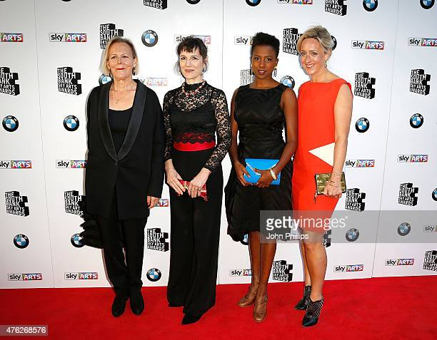 Phyllida Lloyd, Harriet Walter, Jade Anouka and Kate Pakenham attend the South Bank Sky Arts Awards at The Savoy Hotel on June 7, 2015 in London,...
