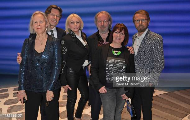 Phyllida Lloyd Richard East Judy Craymer Benny Andersson Catherine Johnson and Bjorn Ulvaeus attend the 20th anniversary performance of Mamma Mia at...