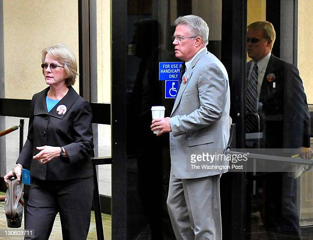 Phyllis and David Murray parents of Luluemon employee Jayna Murray enter the Montgomery County Courthouse on October 26 2011 in Rockville Md