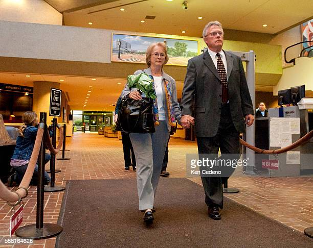 Phyllis and David Murray walk toward the exit of the Montgomery County Circuit Court in Rockville MD October 27 2011 on the fourth day of trial of...